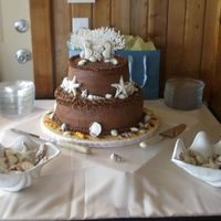 Trish And Brians Wedding Cake ocean and sealife wedding cake