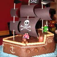The Black Pearl This was my first carved cake. It was fun to make, but the first time it fell because the cakes were too soft.