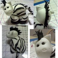 Fondant Zebra   Lil Zebra was made for a Baby Shower Cake.