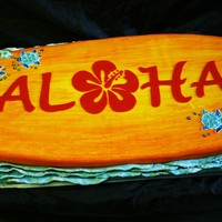 Surfboard Cake I made this cake for a 4th of July Luau party. The waves were molded in gumpaste and then I brushed royal icing to make it look more...