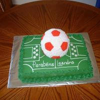 Soccerball Cake This is my second soccer ball cake.