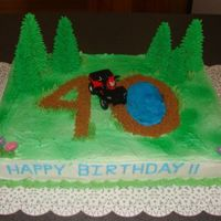 40Th Birthday I made this cake for a friend whose husband is turning 40. He likes to ride 4-wheelers, so she wanted me to work with that. This was my...
