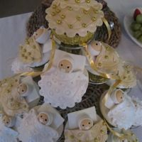 Baby Shower Cupcakes Cute little baby shower cupcakes. Choc mud cake with fondant babies and decorations.