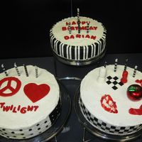 Twilight Cakes   made these for my dd's 12th bday. chocolate cake, buttercream icing (sugarshack's recipe-it was delicious) fondant decorations