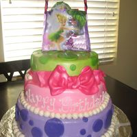 Tinkerbell Tierd Cake 12in , 10in, 8in, all three in deep pans. marshmellow fondant, so yummy!