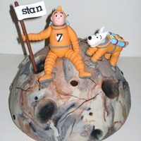 Tintin And Milou Went To The Moon