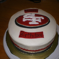 San Francisco 49Ers Sports theme, San Francisco 49ers. Buttercream frosting, fondant decorations.