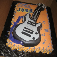 Rocker Cake This was made for my son's 12th birthday. I copied his electric guitar and placed it on top of a rectangular layer so that there would...
