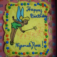 Tinkerbell Fbct This my first FBCT and my first time using cupcakes as a cake. It was really lots of fun to do. 16 cupcakes, Buttercream icing, M&M&#...