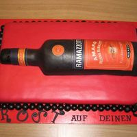 Ramazotti-Bottle-Cake For My Dadâ´s 50Th  Birthday-> He Loves Ramazotti ;)