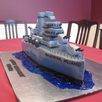 General Belgrano  This is a cake of the General Belgrano, sadly now sunk made for a 75th birthday, front end and detail is RKT, rest is cake covered in...