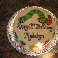 The Very Hungry Caterpillar Smash Cake This was the smash cake at a little girl's first birthday.