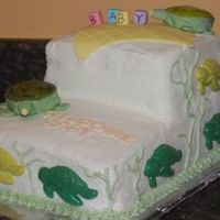 Baby Shower I made this for my cousin and his wife's baby shower...she loves turtles.