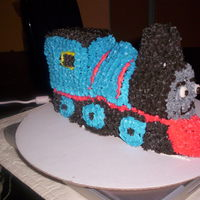 Thomas The Tank Engine All butter cream. First 3D cake