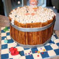 Einstein Taking A Bath!!! Fondant and gum paste cake for our daughters 18th birthday.