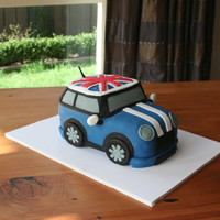 Mini Cooper Mini Cooper my 3 year old wanted for his B-day. Inspired by another mini at Cake Central