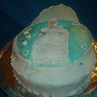 Congratulations..it's A Boy! My daughter just found out that it is a boy and this is my first cake using fonfandt and gumpaste!