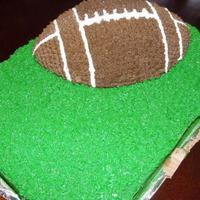 Football Birthday Cake I did this cake for my dad. It isn't really anything spectacular, but he liked it. This is the second cake I made and it was in the...
