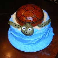 Sea Turtle Themed Baby Shower Cake This cake was a sea turtle themed baby shower...her nursery was done in sea turtles...This actually was so fun to make! It was white cake...