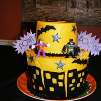 Batman Cake I did this cake for my best friend's little boy. It was a batman themed party...SO cute! I was also short on time for this one too.......
