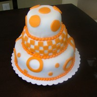 University Of Tennessee Themed Anniversary Cake I made this cake for a friend of mine. It was her and her husband's 10 year anniversary. They never had a wedding cake when they got...