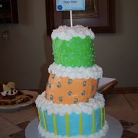 Topsy-Turvy Cake Baby shower cake for a friend.