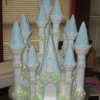 Castle Cake Princess This is our first Castle Cake made with BC icing and royal for the peaks.