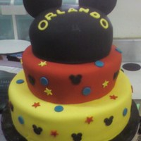 Mickey Mouse All fondant and all cake!