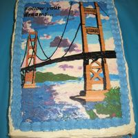 Golden Gate Bridge Cake I made this cake for my niece who was moving to San Francisco for a job opportunity. I found the picture online & made a FBCT.