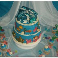 Dolphin Cake I made this cake for my daughter's dolphin-themed birthday party. Thanks to several people from CC for inspiration!