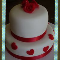 Valentine 2 Tier Valentine 2 Tier cake with fondant roses