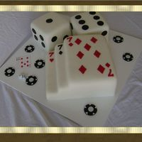 Poker Cards And Dice Cake This was for a YMCA Poker Night fundraiser. The cards and dice are cake.