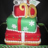 Holiday Themed 90Th Birthday Cake