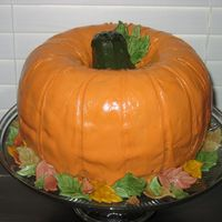 First Pumpkin Cake Well, here's my first attempt at a pumpkin cake made with the bundt pans and cone stem-thanks to all the other pumpkin cake makers on...