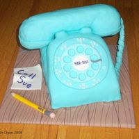 Retro Phone Cake  Hmmm, my cakes always fall into Misc. 3D. I wonder what that says about me. This cake won first place in the Riverton Fair Cake Decorating...