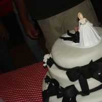 Casual Wedding Cake First wedding cake!