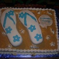 Flip Flop Cake Thanks to all other flip flop cakes, which I recieved inspiration from