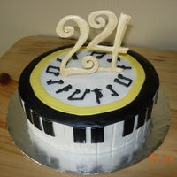 Music Melody This is a cake for my sister's 24th Birthday. She loves music so this is what I came up with after looking at a lot of music cakes....