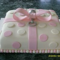 Pink Bow/silver Rattle Thank you shanabanana919 for the design. Of all the millions of cakes on this sight yours was the one chosen for the shower. Way fun to...