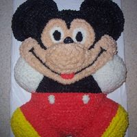 Mickey Mouse Mickey Mouse Cake made from Teddy Bear Pan