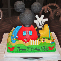 Mickey Mouse Clubhouse Mickey Mouse Clubhouse cake I made for my son's 3rd birthday party. I couldn't have made this cake without all of the help I...