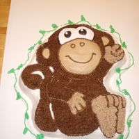 Monkey Cake Wilton Monkey pan with chocolate buttercream icing.