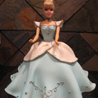Cinderella Cinderella. Every little girl wants one! There are many versions of this cake. Isn't it hard to create a cake that looks like fabric...