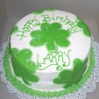 St. Patty's Birthday Made for a friend's husband whose birthday is March 17. She wanted shamrocks. White cake with strawberry preserves filling. All...
