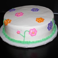 Spring Flowers This is a cake I did just to donate to the Ronald McDonald House. I was inspired by ldjdejesus1 flower cake. All buttercream/ white cake
