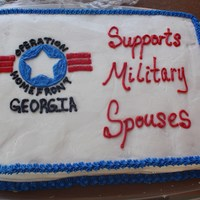 Military Spouse's Lunch   Donated this to a military spouse's lunch at the park for Operation Homefront GA. WASC with vanilla BC.