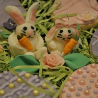 Fondant Easter Rabbits These are my first attempt at molded fondant animals. I made two fondant bunnies that are surrounded in the photo by their Easter Cookies!...