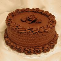 Chocolate Cake I made this cake for one of my friends who loves chocolate! The cake is a Darn Good Chocolate Cake a recipe I got from the CC collection....