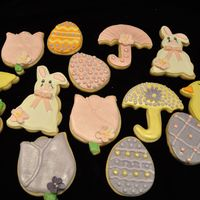 Easter Cookies These are my Easter cookies for this year. They are NFSC covered in Antonia74 royal icing, with royal icing flower accents. Some are...