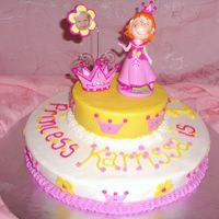 Princess Birthday Cake Buttercream with inedible toppers